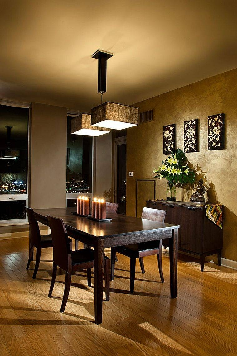 Dinning Rooms : Awesome Japanese Style Dining Room With Small with Asian Style Pendant Lights (Image 8 of 15)
