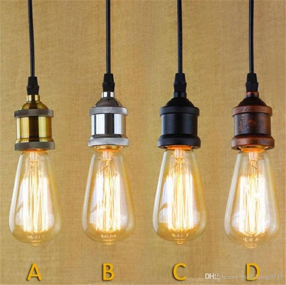 Discount Brass Chrome Silver Black Rustic E27 Aluminum Antique within Rustic Pendant Lighting (Image 3 of 15)