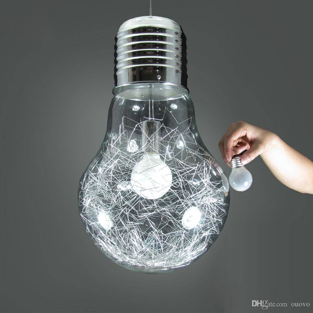 Discount Stylish Big Bulb Dining Room Pendant Lamp New Modern inside Wire Ball Lights Pendants (Image 5 of 15)