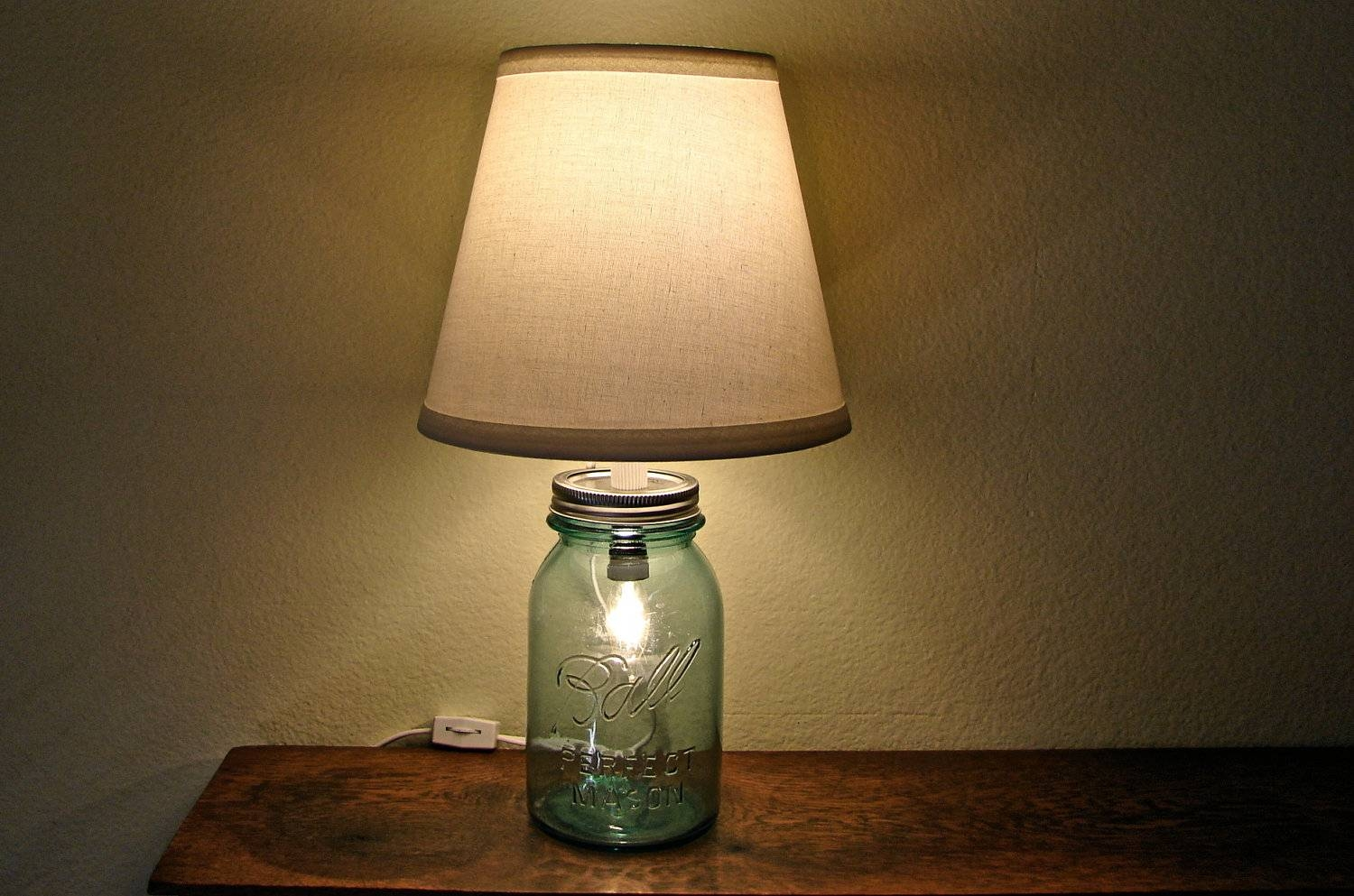 Discount Vintage Blue Mason Jar Table Lamp No Shade Two with regard to Blue Mason Jar Lights Fixtures (Image 3 of 15)