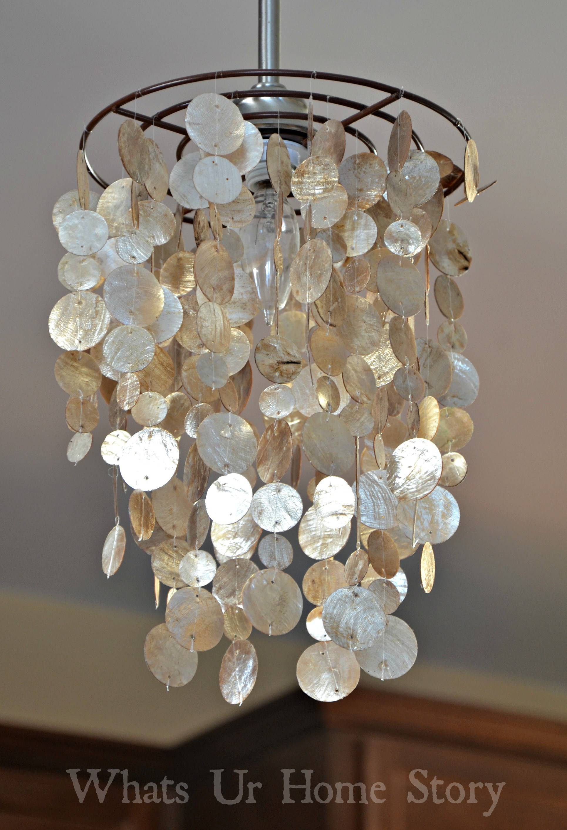 Diy Capiz Chandelier throughout Shell Light Shades Pendants (Image 2 of 15)