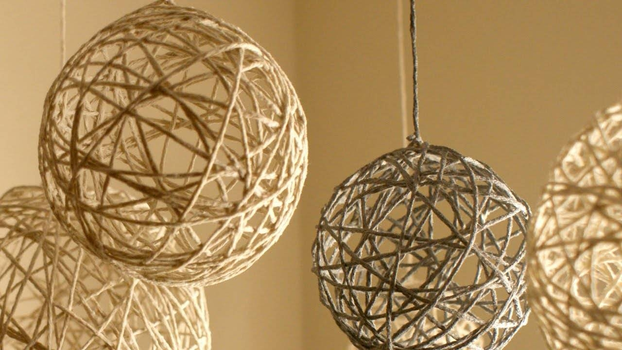 Diy Christmas String Ornaments And Lanterns - Youtube pertaining to Diy Yarn Lights (Image 4 of 15)