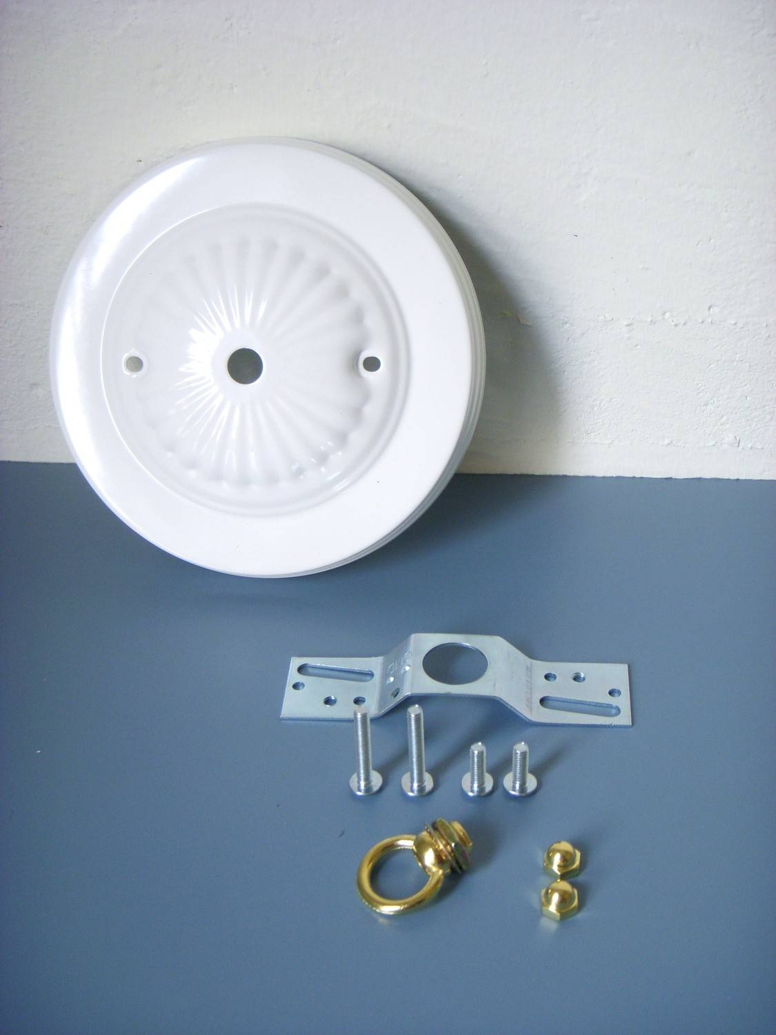 Diy Decorative Bright White Embossed Ceiling Canopy Plate intended for Pendant Lights Cover Plate (Image 8 of 15)