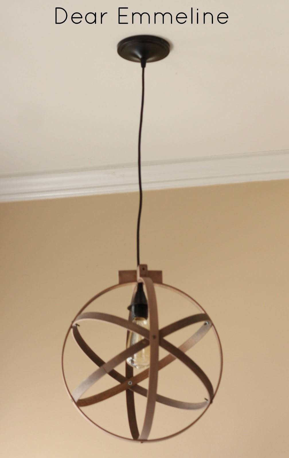 Diy Easy Embroidery Hoop Pendant in Dodecahedron Pendant Lights (Image 7 of 15)