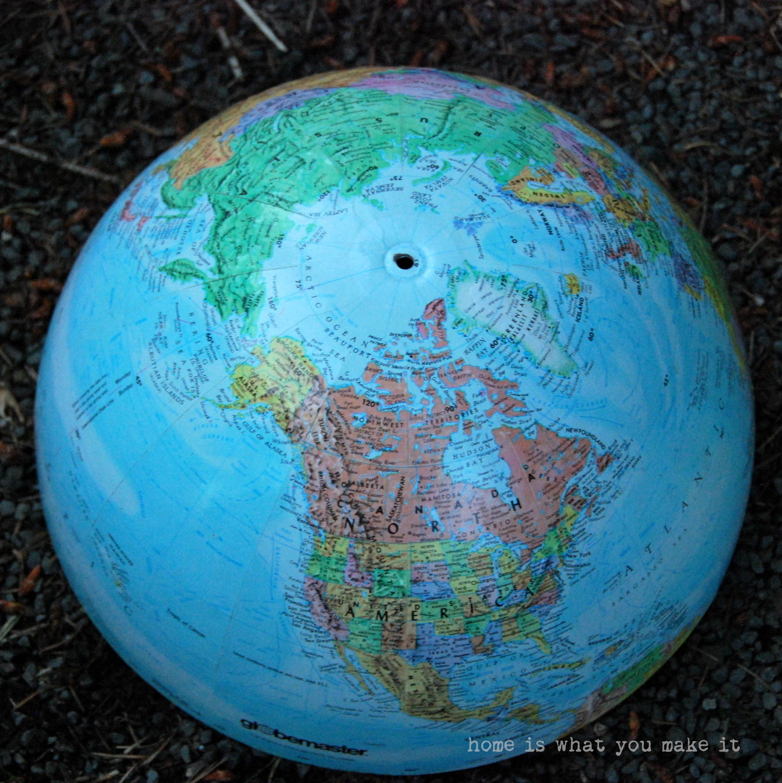Diy} Globe Pendant Light – Home Is What You Make It with regard to World Globe Pendant Lights (Image 5 of 15)