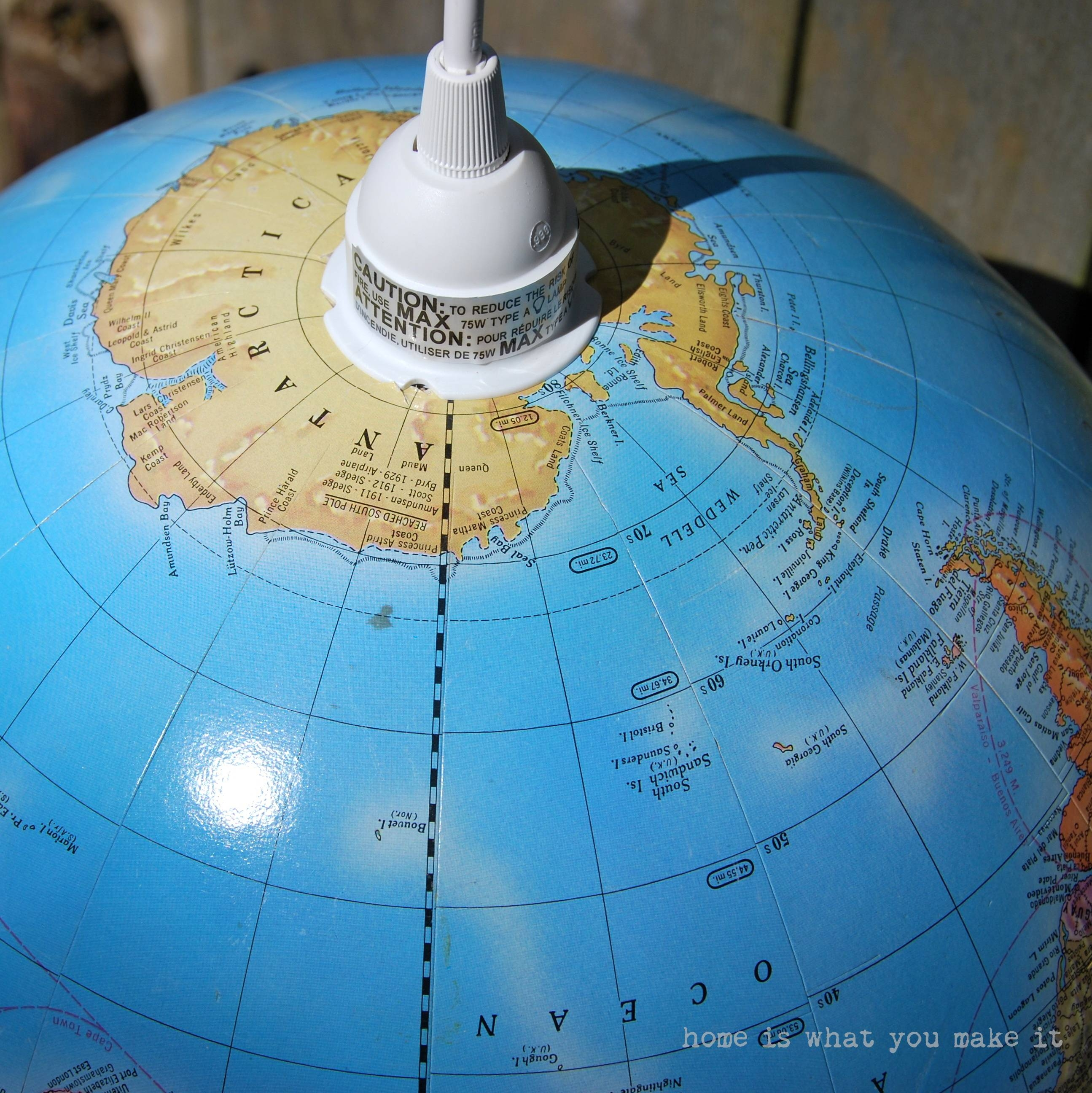 Diy} Globe Pendant Light – Home Is What You Make It within World Globe Pendant Lights (Image 6 of 15)