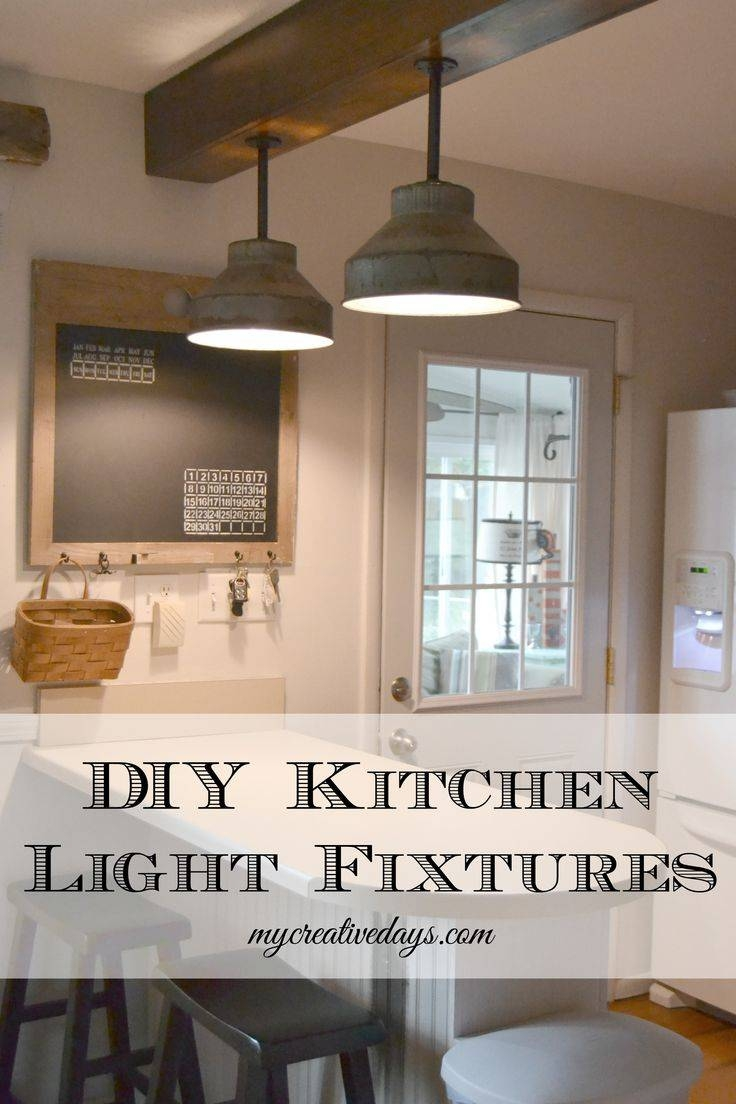 Diy Kitchen Light Fixtures {Part 2 | Diy Kitchen Lighting, Kitchen with Industrial Kitchen Lighting Pendants (Image 4 of 15)
