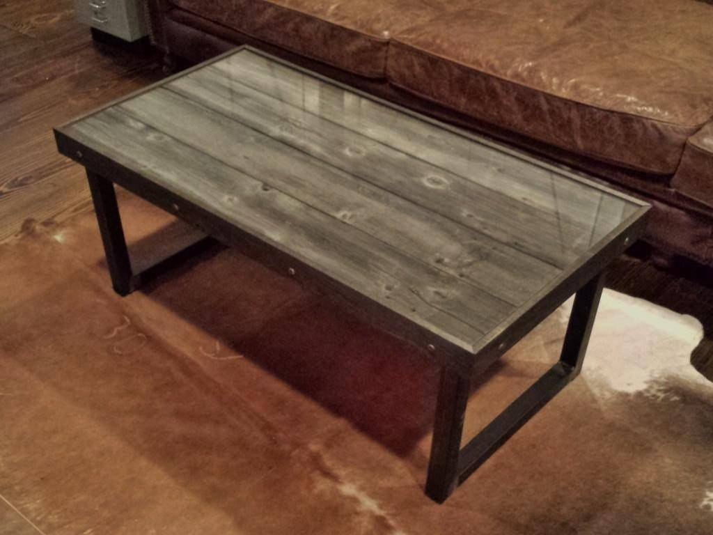 Diy Reclaimed Wood Coffee Table Ideas | Home Designjohn for Metal And Wood Coffee Tables (Image 6 of 15)