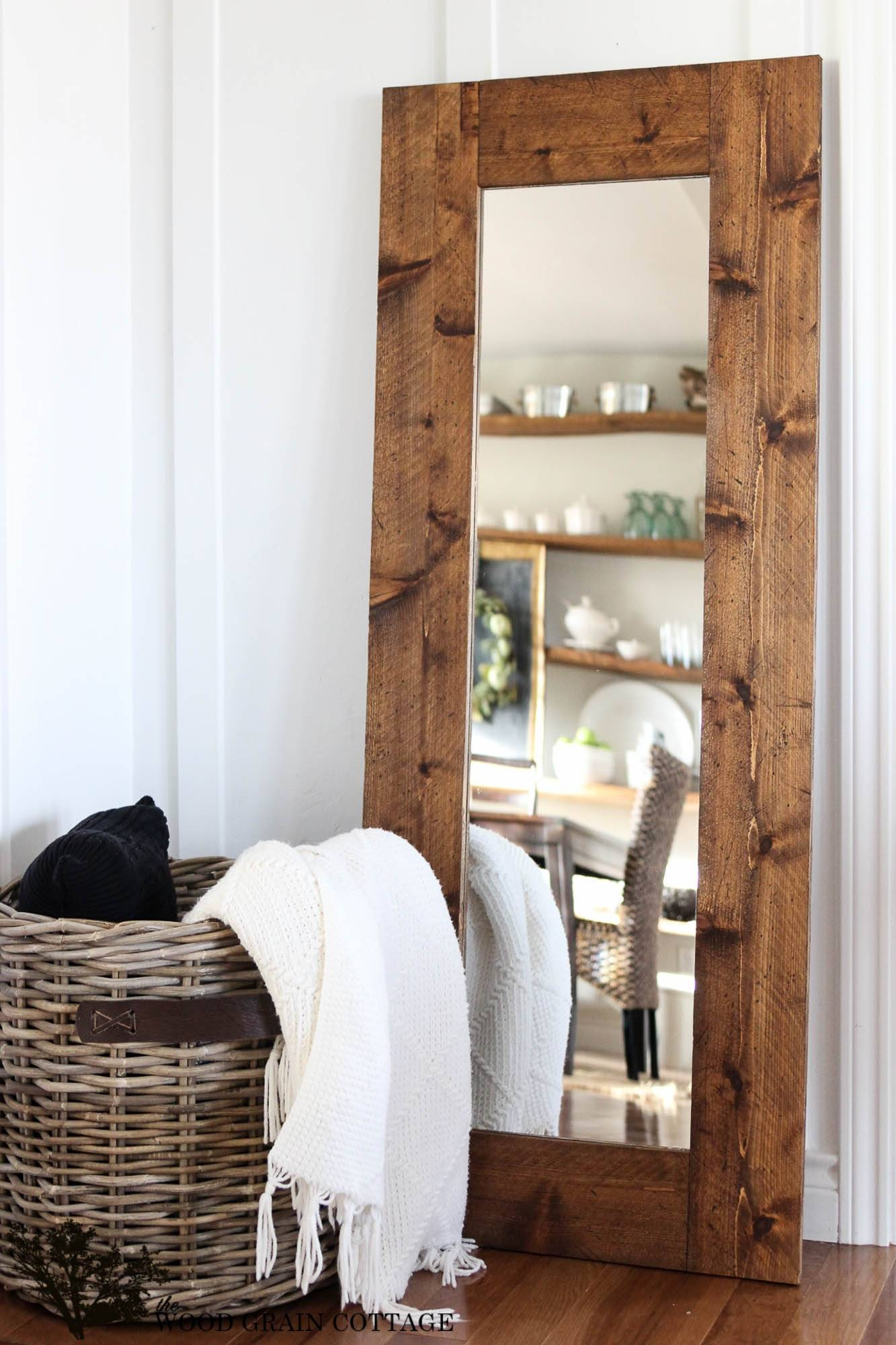 Diy Wood Framed Mirror - The Wood Grain Cottage for Rustic Oak Framed Mirrors (Image 8 of 15)
