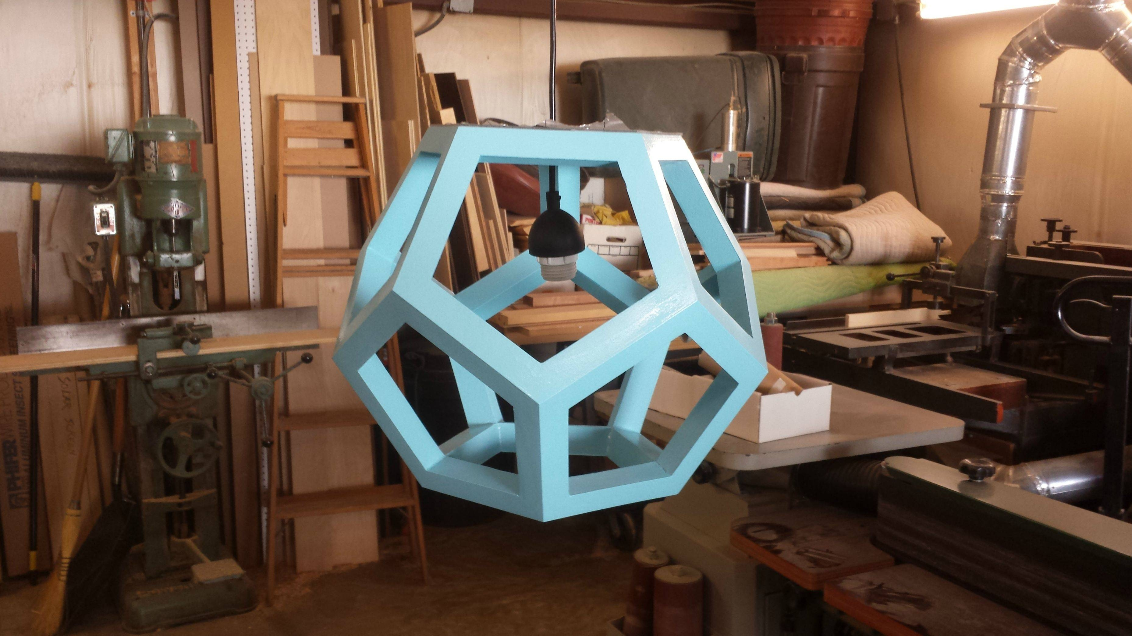 Dodecahedron (First One) : Woodworking regarding Dodecahedron Pendant Lights (Image 11 of 15)