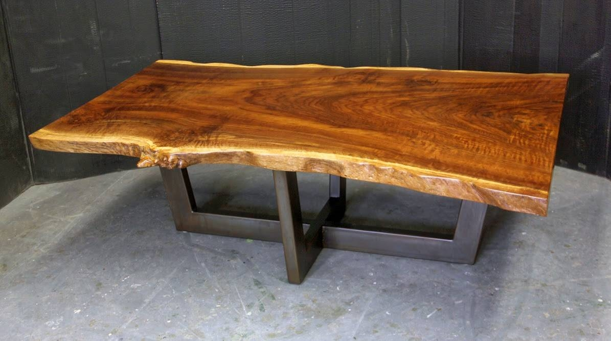 Dorset Custom Furniture - A Woodworkers Photo Journal: A Live Edge pertaining to Live Edge Coffee Tables (Image 5 of 15)