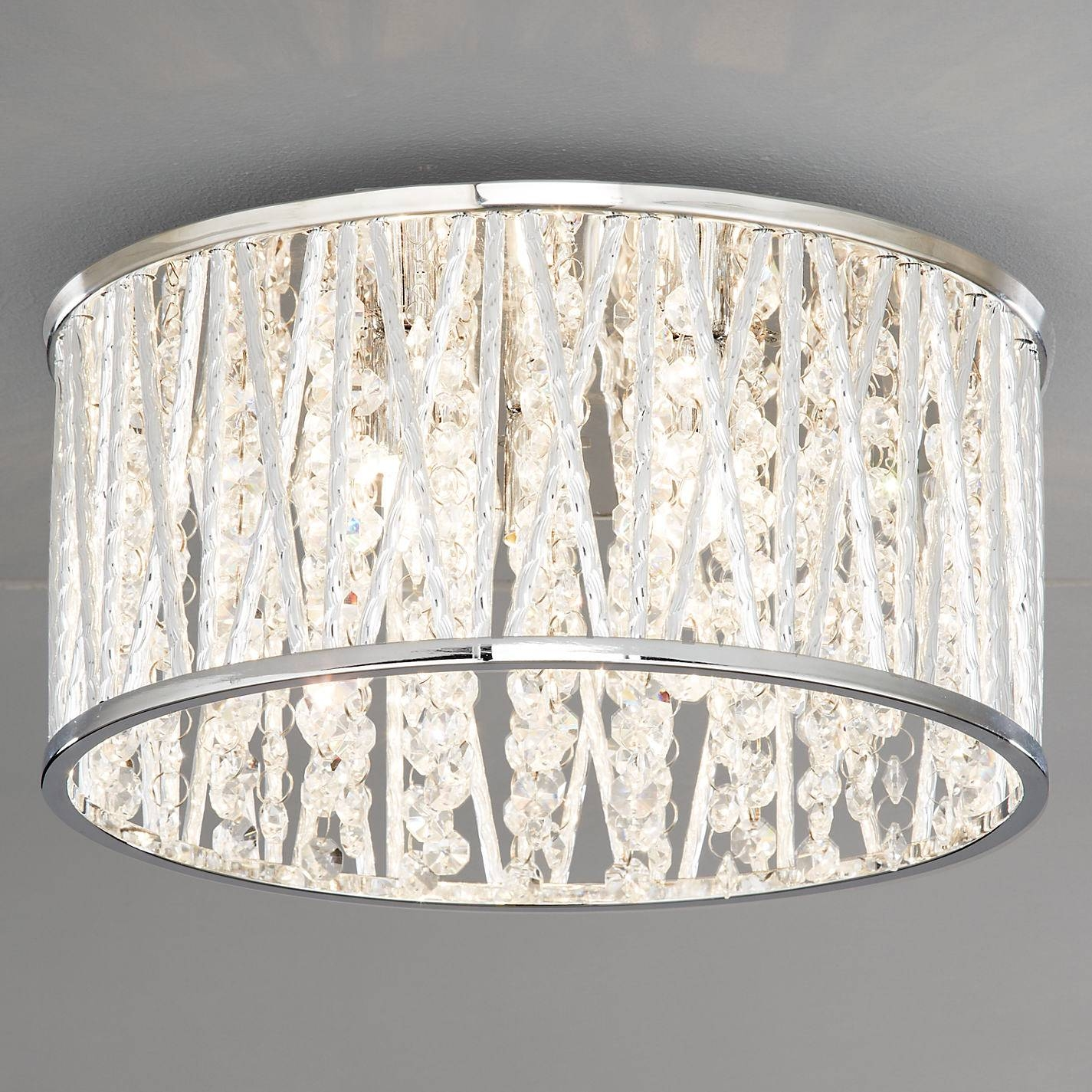 Drum Ceiling Light With Crystals | Home Lighting Design Ideas with John Lewis Ceiling Lights Shades (Image 6 of 15)
