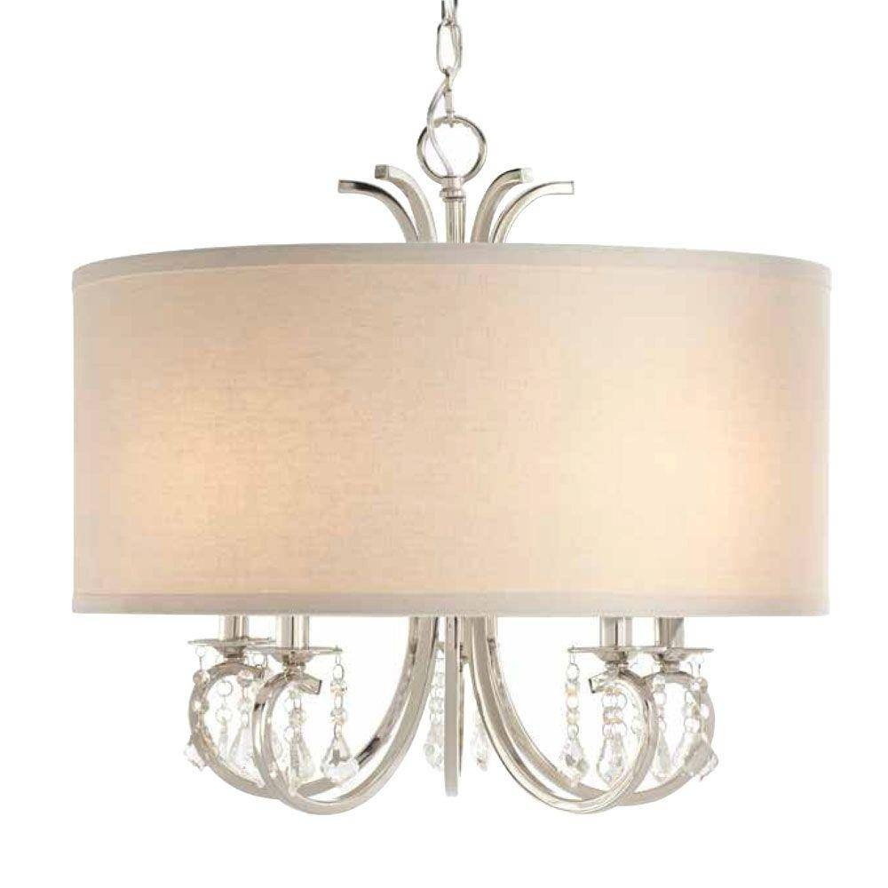 Drum - Pendant Lights - Hanging Lights - The Home Depot intended for Drum Pendant Lighting (Image 6 of 15)