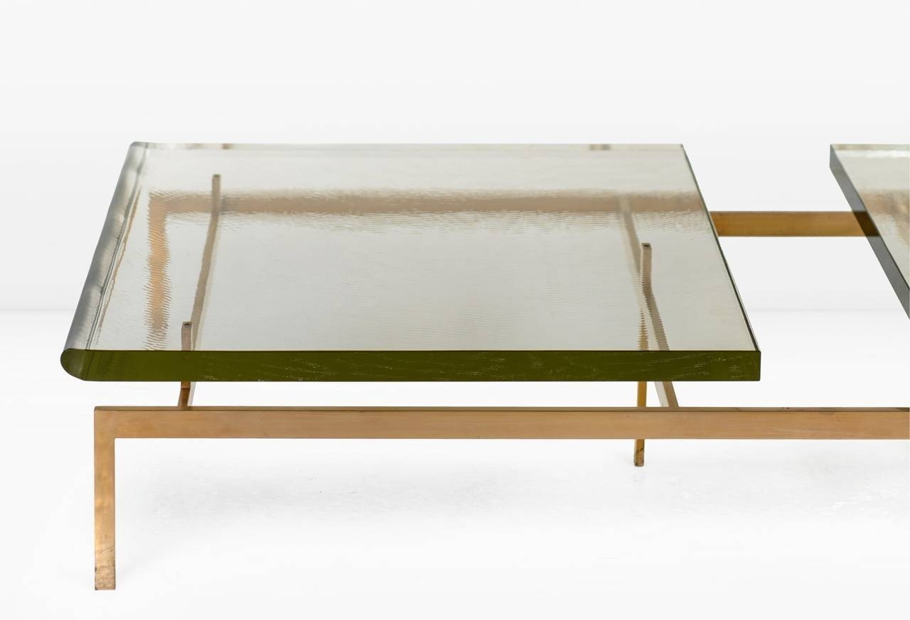 Duran Coffee Table With Thick Borosilicate Glass Top And Silicon pertaining to Thick Glass Coffee Table (Image 5 of 15)