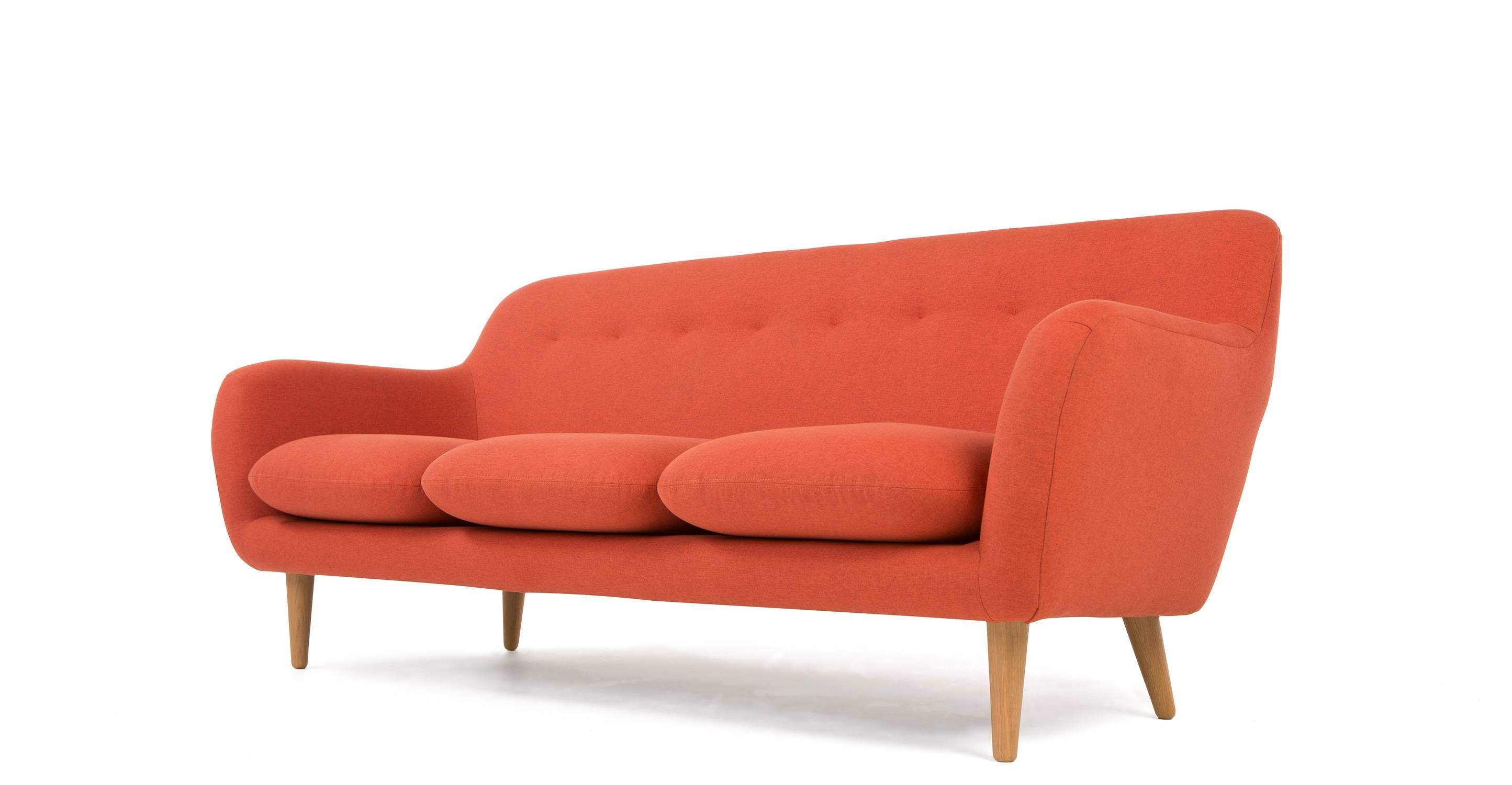 Dylan 3 Seater Sofa, Retro Orange | Made with regard to Retro Sofas And Chairs (Image 5 of 15)