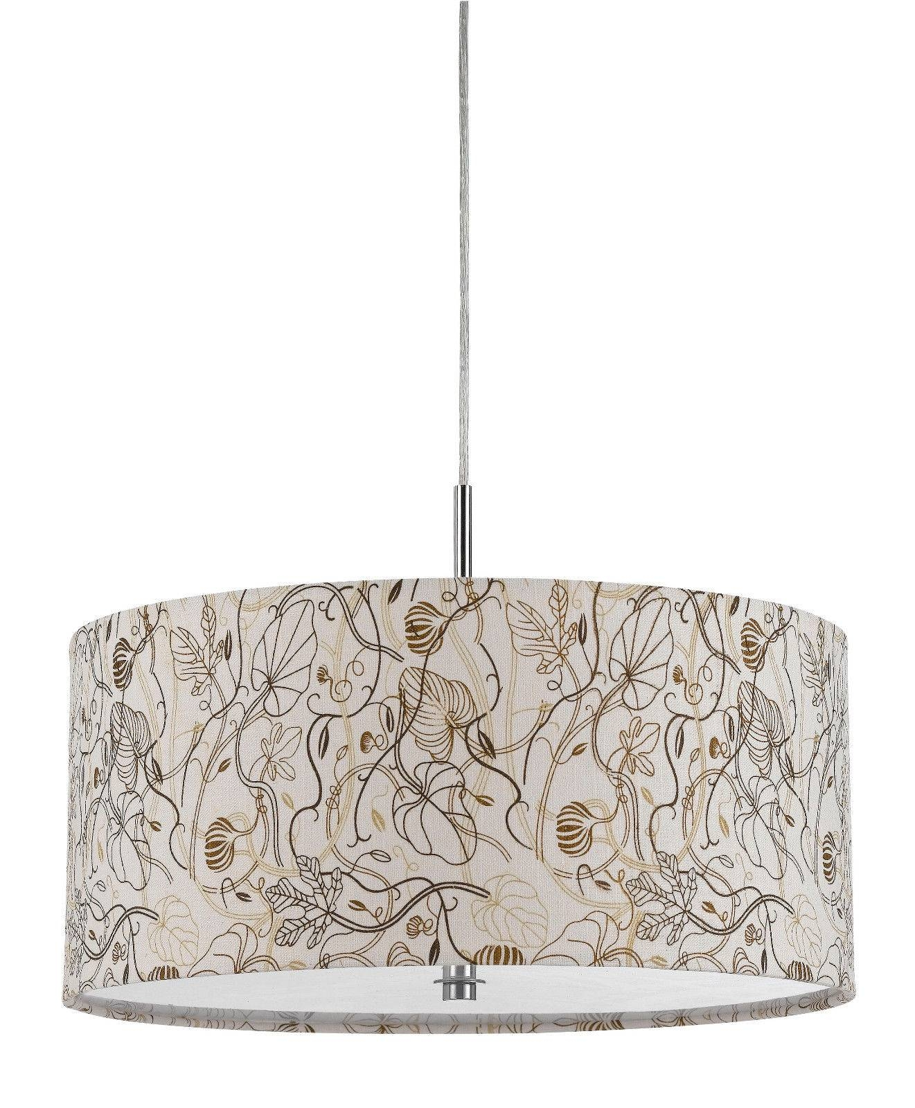 Earth Colors Drum Pendant Light Plug In | Lamp Shade Pro intended for Rectangular Drum Pendant Lights (Image 7 of 15)
