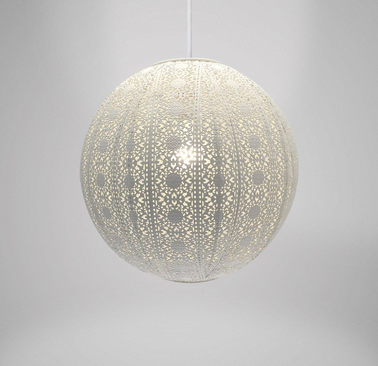 Easy Fit Moroccan Style Metal Pendant Light Fitting Shade Ceiling inside Moroccan Style Lights Shades (Image 5 of 15)