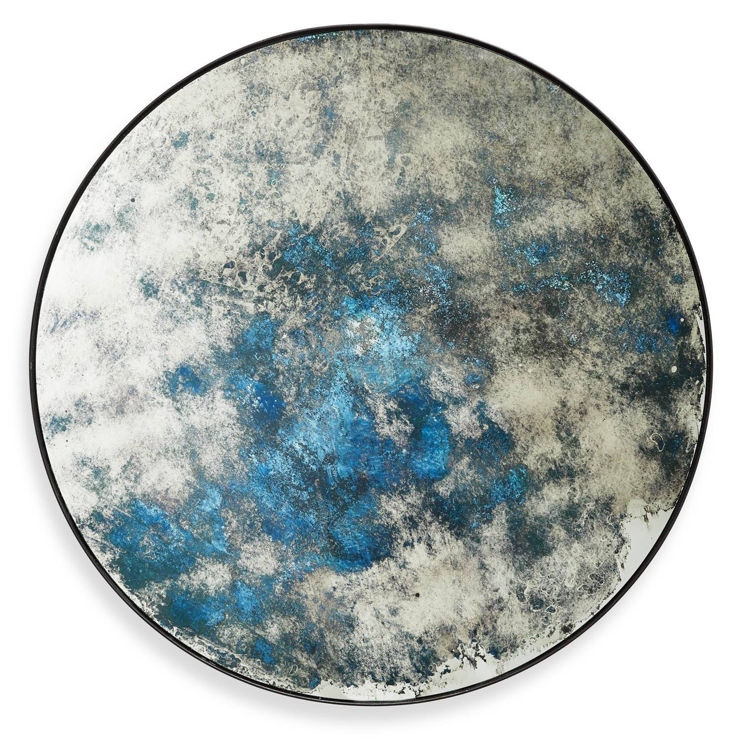 Echo Distressed Mirror Ocean Blue intended for Blue Distressed Mirrors (Image 5 of 15)