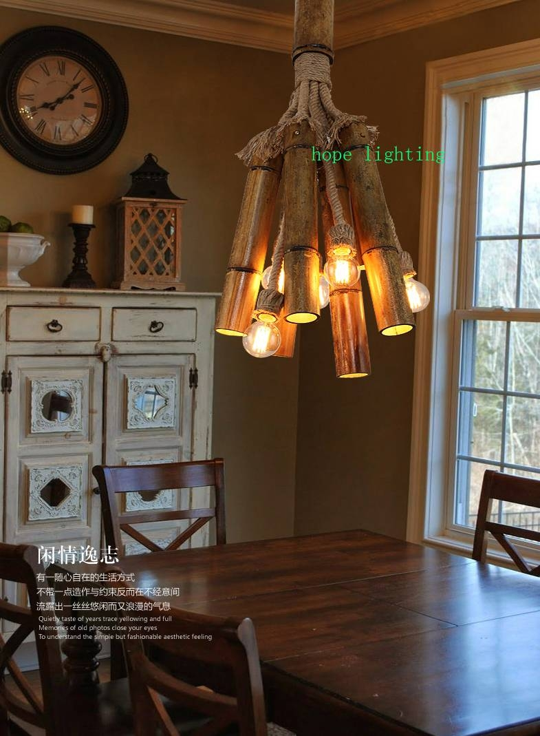 Edison Bulb Retro Pendant Lamp Bronze Cottage Style Bamboo Pendant pertaining to Cottage Style Pendant Lighting (Image 11 of 15)