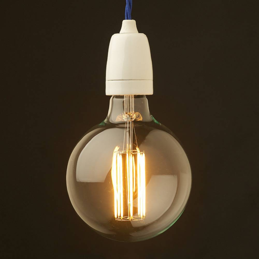Edison Style Light Bulb E27 White Fine Porcelain Pendant For Exposed Track Lighting