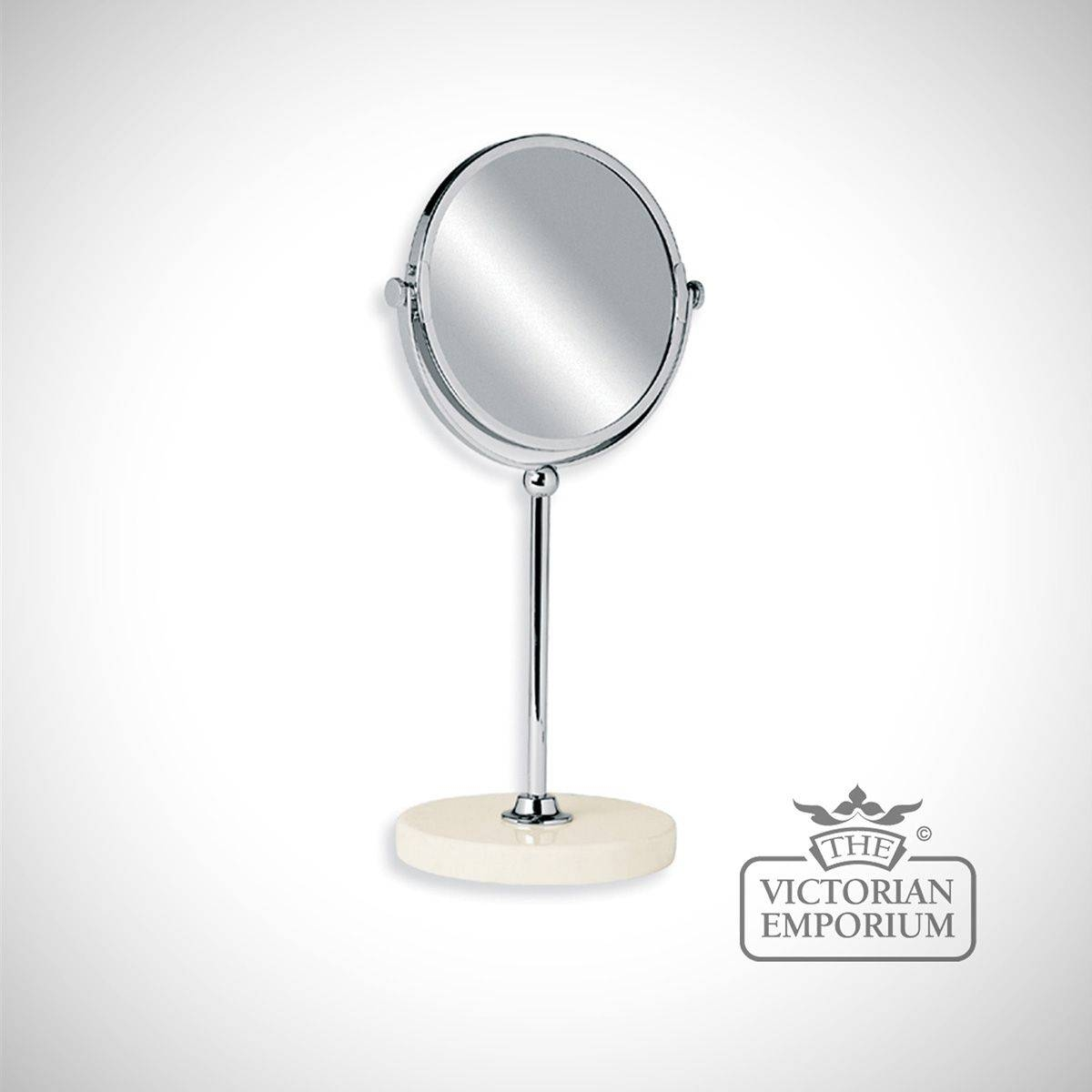Edwardian Free Standing Vanity Mirror With Marble Base | Mirrors pertaining to Victorian Standing Mirrors (Image 5 of 15)