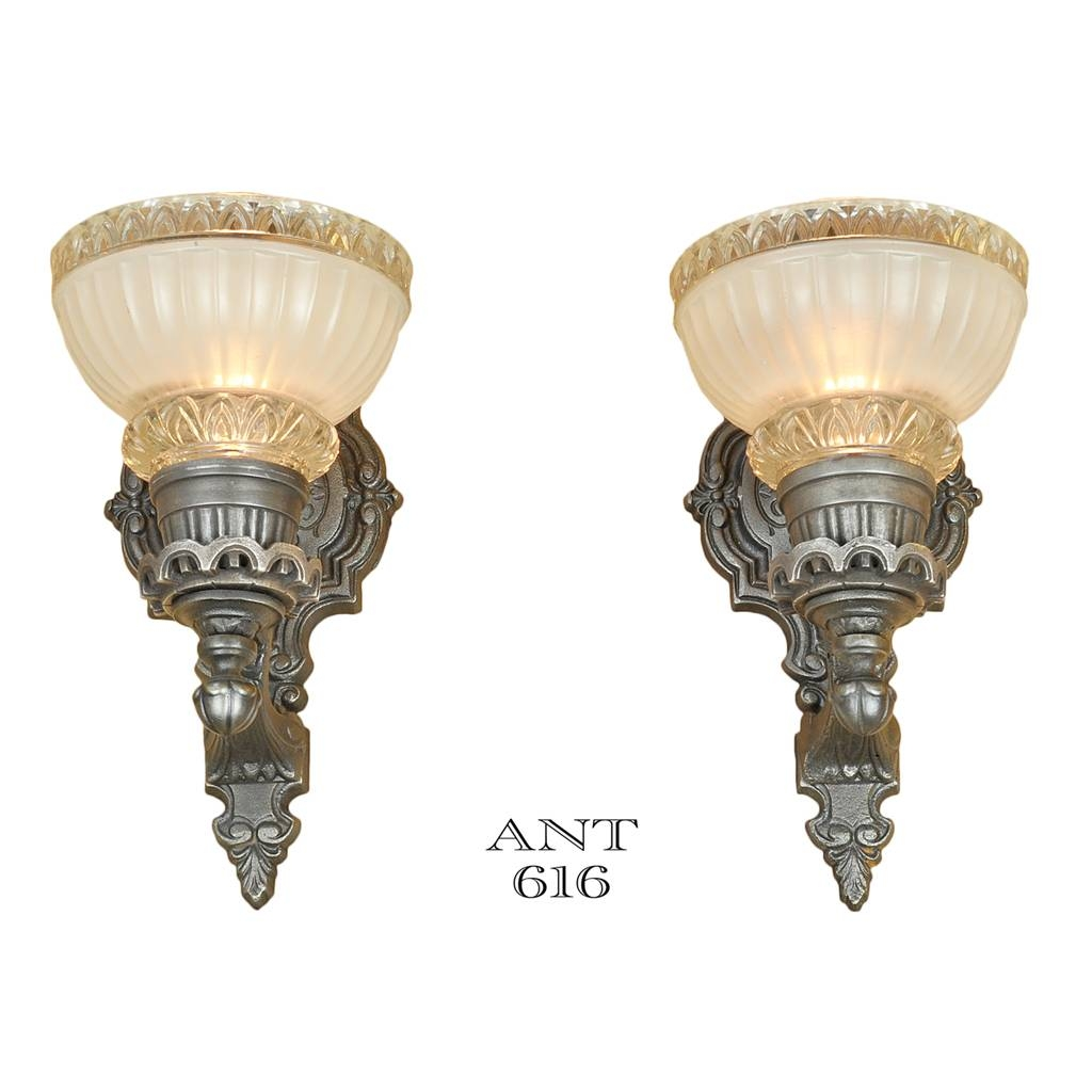 Edwardian Style Wall Sconces Classic 1930S Antique Lights Fixtures in Edwardian Lights Fixtures (Image 11 of 15)