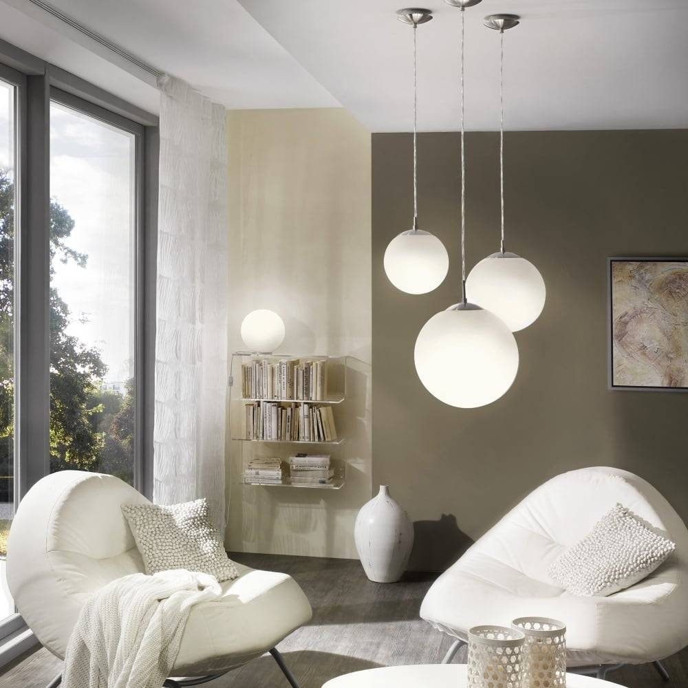 15 photos large glass ball pendant lights eglo 85263 rondo large opal white glass globe pendant light for large glass ball pendant lights aloadofball Image collections
