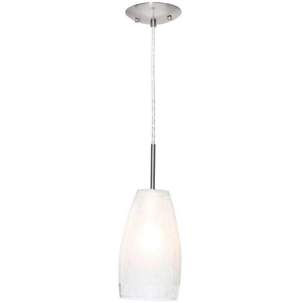 Eglo Crash 1-Light Matte Nickel Hanging/ceiling Pendant-20599A throughout Easy Lite Pendant Lighting (Image 10 of 15)