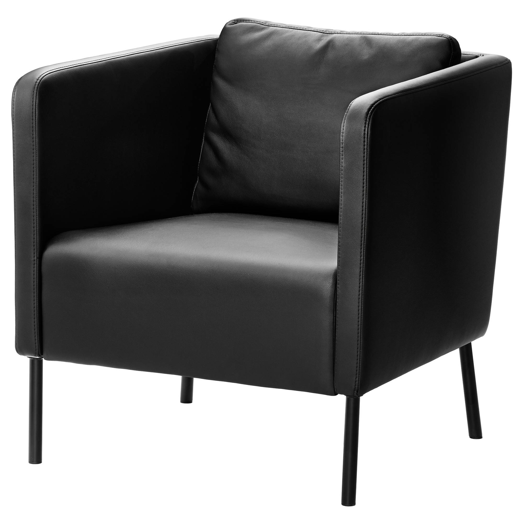 Ekerö Armchair Kimstad Black - Ikea regarding Sofa Arm Chairs (Image 9 of 15)