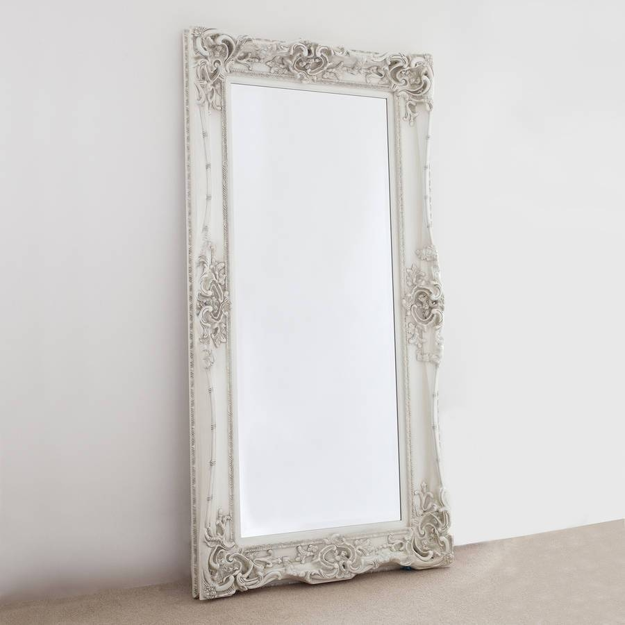 Elaborate Ivory Mirrordecorative Mirrors Online in Elaborate Mirrors (Image 5 of 15)