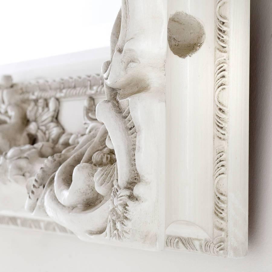 Elaborate Ivory Mirrordecorative Mirrors Online regarding Elaborate Mirrors (Image 6 of 15)