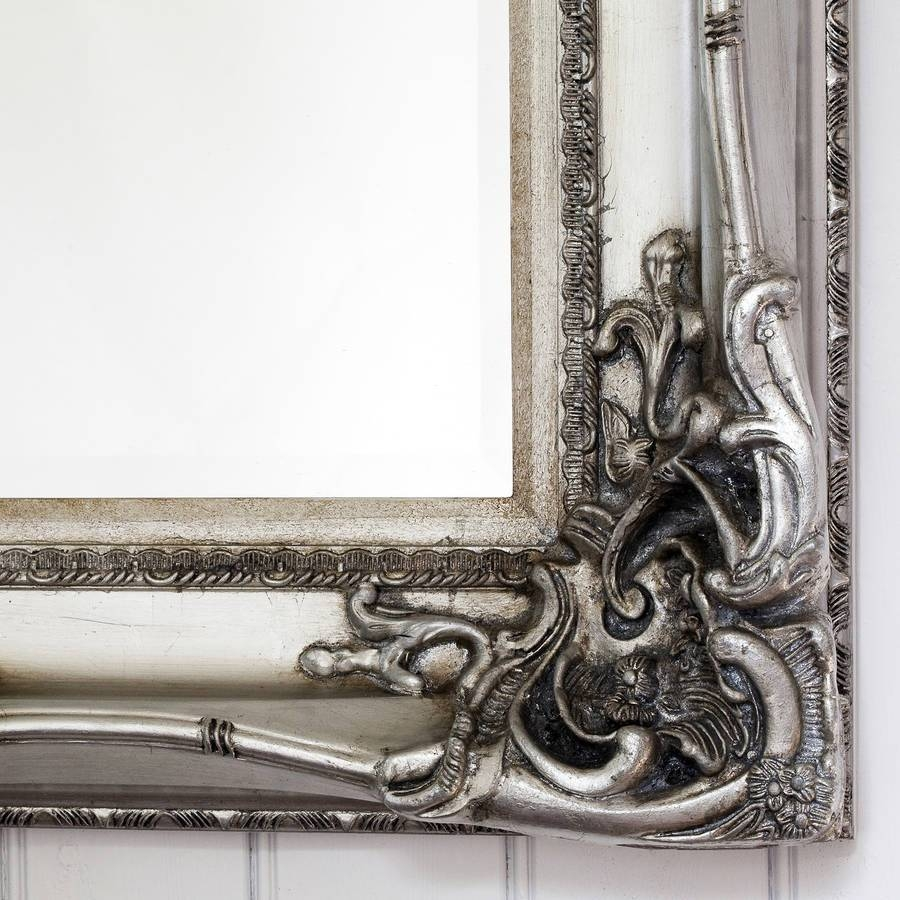 Elaborate Silver Mirrordecorative Mirrors Online in Elaborate Mirrors (Image 7 of 15)