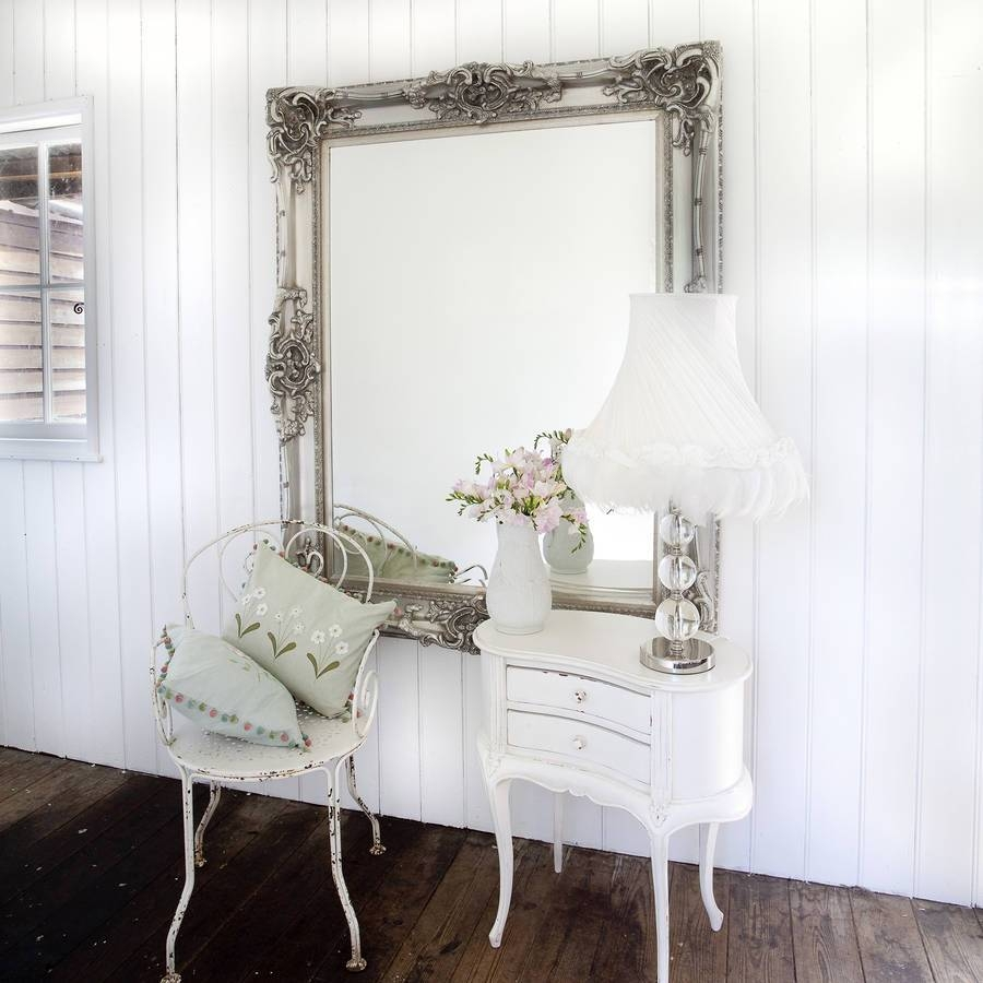 Elaborate Silver Mirrordecorative Mirrors Online throughout Elaborate Mirrors (Image 9 of 15)