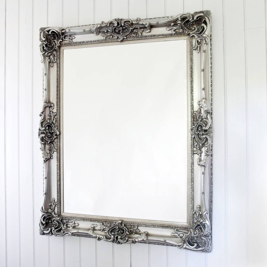 Elaborate Silver Mirrordecorative Mirrors Online with regard to Elaborate Mirrors (Image 10 of 15)