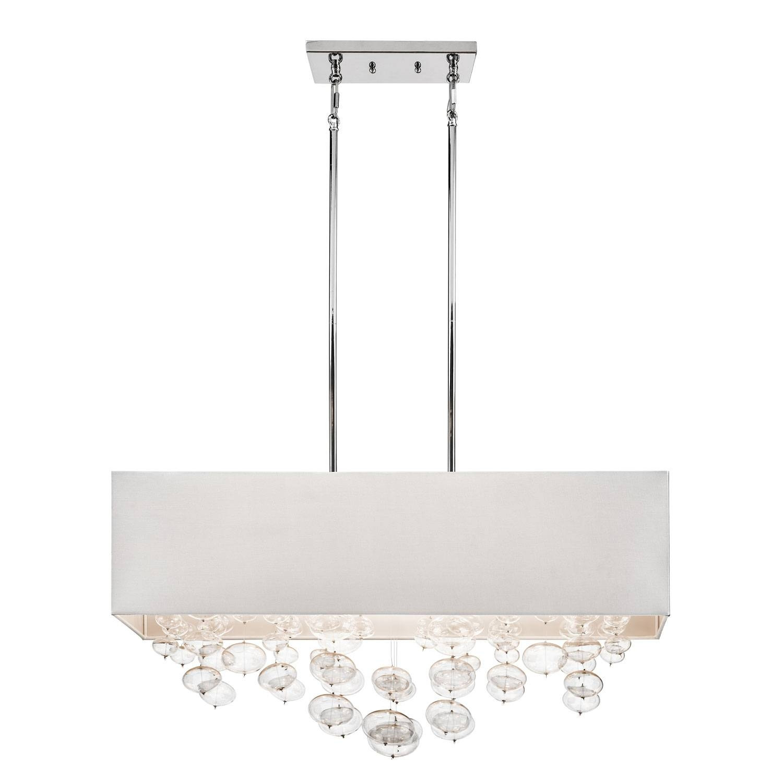 Elan Piatt Chrome Six Light Chandelier Rectangular Pendant On Sale intended for Rectangular Drum Pendant Lights (Image 8 of 15)