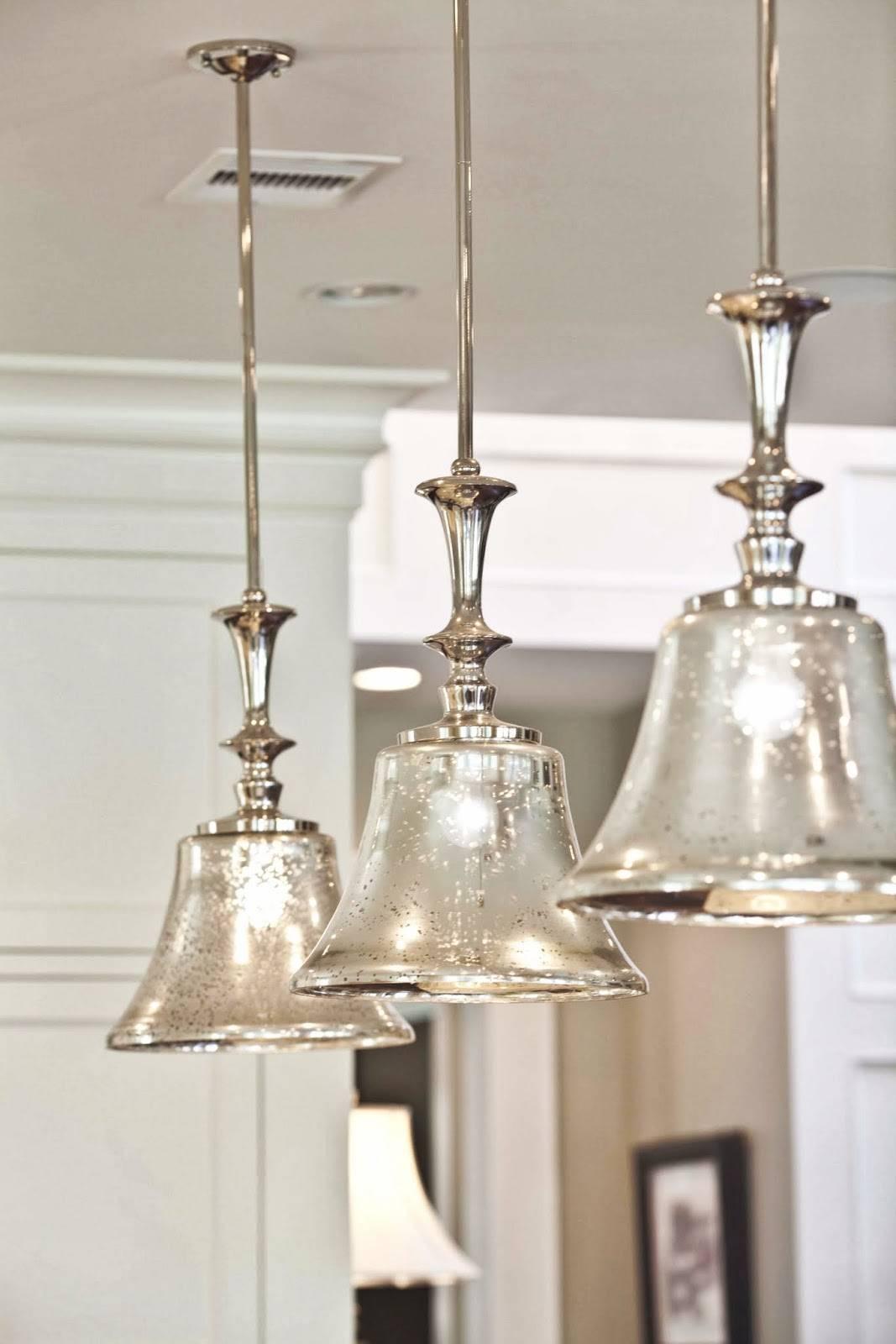 Elegant Glass Pendant Lighting For Kitchen 26 For Your Mercury with Mercury Glass Pendant Lighting (Image 5 of 15)