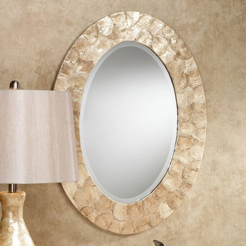 Elegant Pewter Oval Bathroom Mirrors 75 With Additional With with Oval Cream Mirrors (Image 9 of 15)