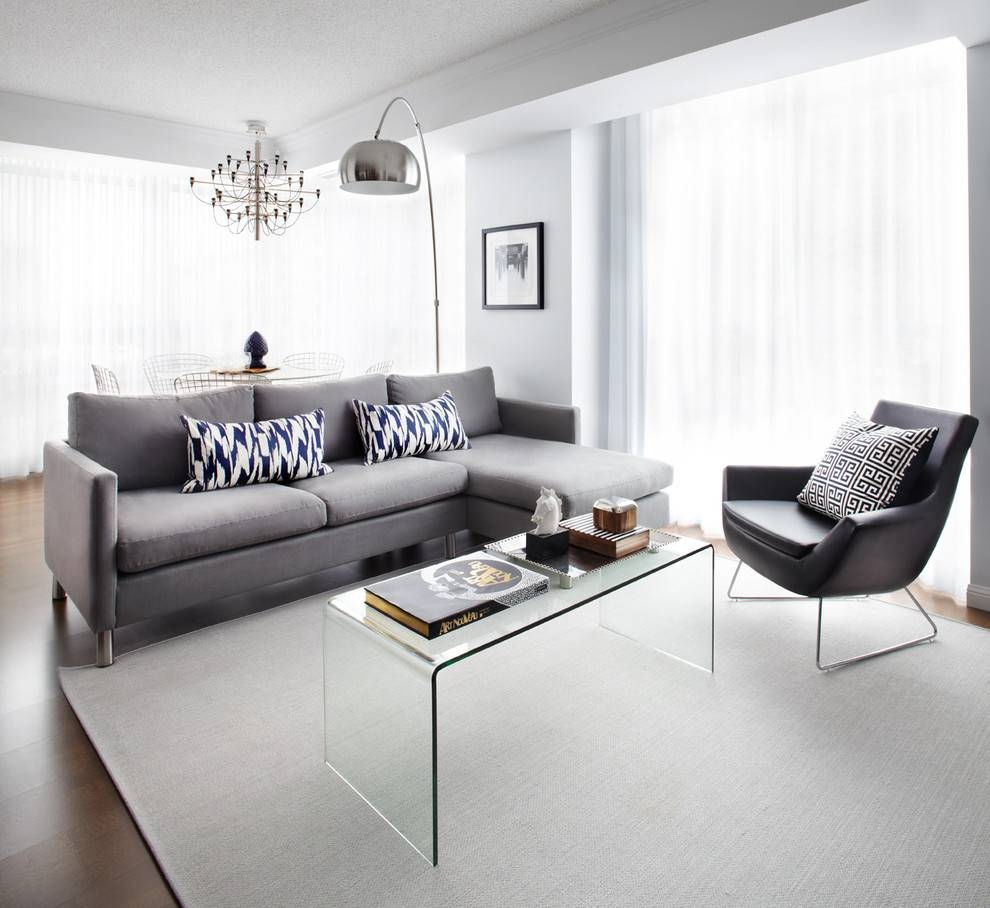 Elegant Reclining Couch In Living Room Contemporary With Coffee pertaining to Blue Gray Sofas (Image 7 of 15)