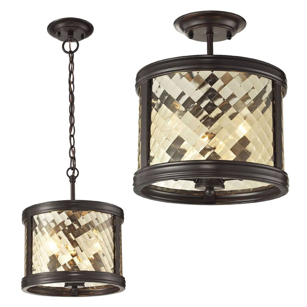 Elk 31451-3 Chandler Oil Rubbed Bronze Home Ceiling Lighting intended for Oil Rubbed Bronze Pendant Lights (Image 4 of 15)