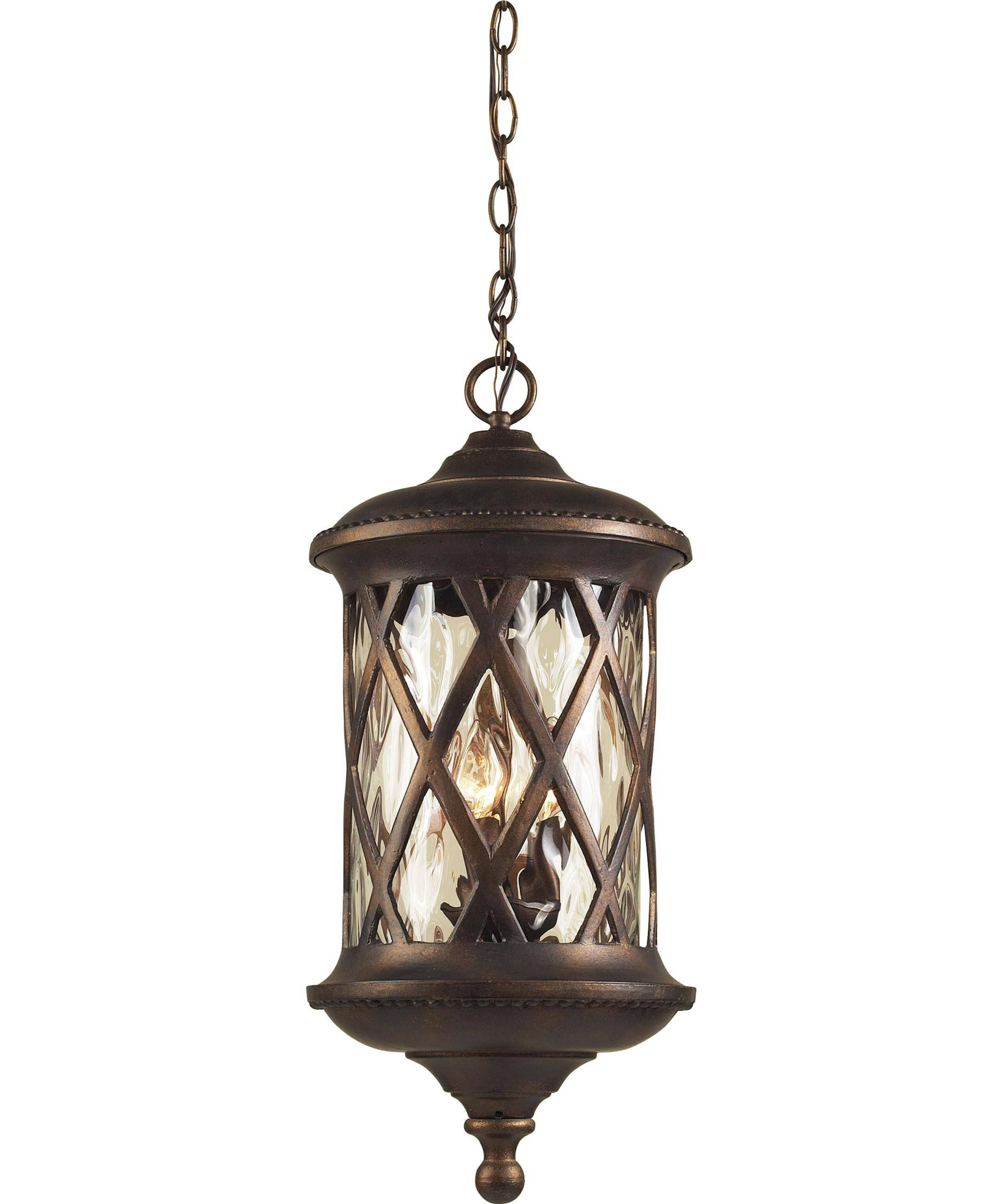 Elk Lighting 42033-3 Barrington Gate 11 Inch Wide 3 Light Outdoor intended for Outdoor Pendant Lighting (Image 2 of 15)