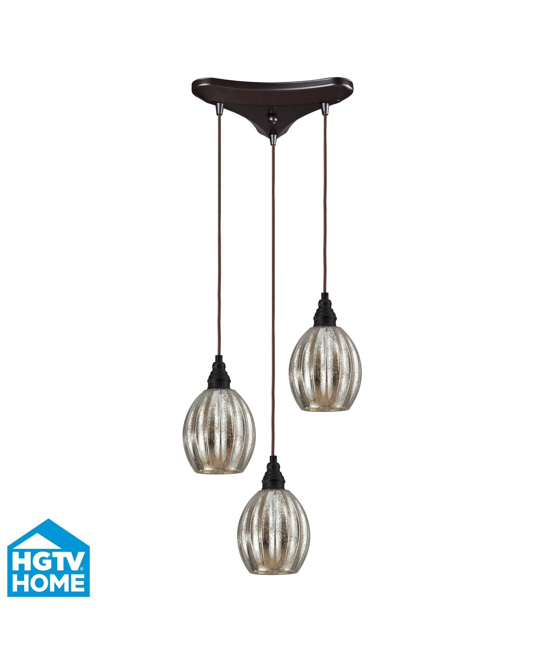 Elk Lighting 46007-3 Danica 10 Inch Wide 3 Light Multi Pendant pertaining to 3 Pendant Lights Kits (Image 3 of 15)
