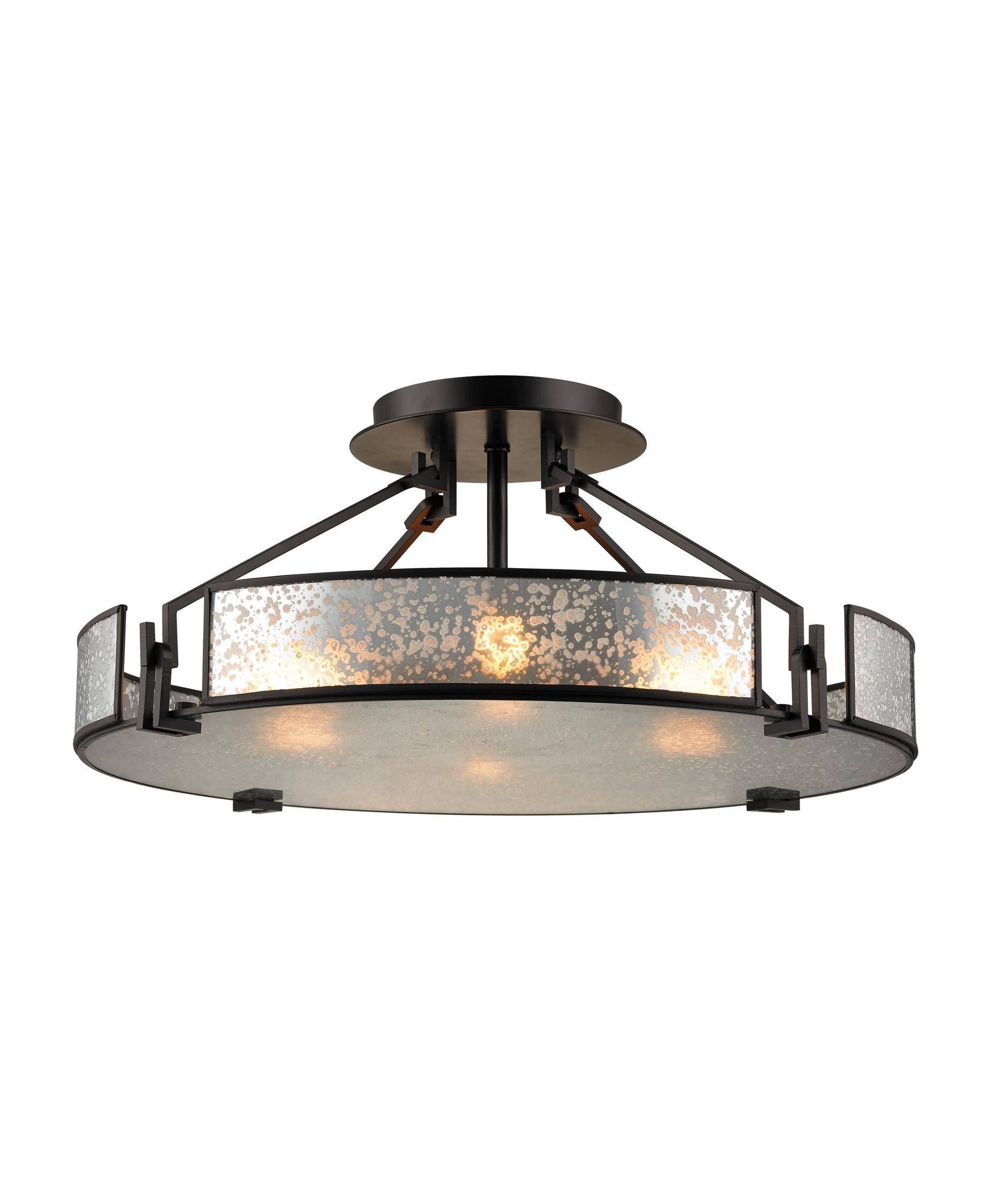 Elk Lighting 57091-4 Lindhurst 21 Inch Wide Semi Flush Mount with Mercury Glass Lighting Fixtures (Image 7 of 15)