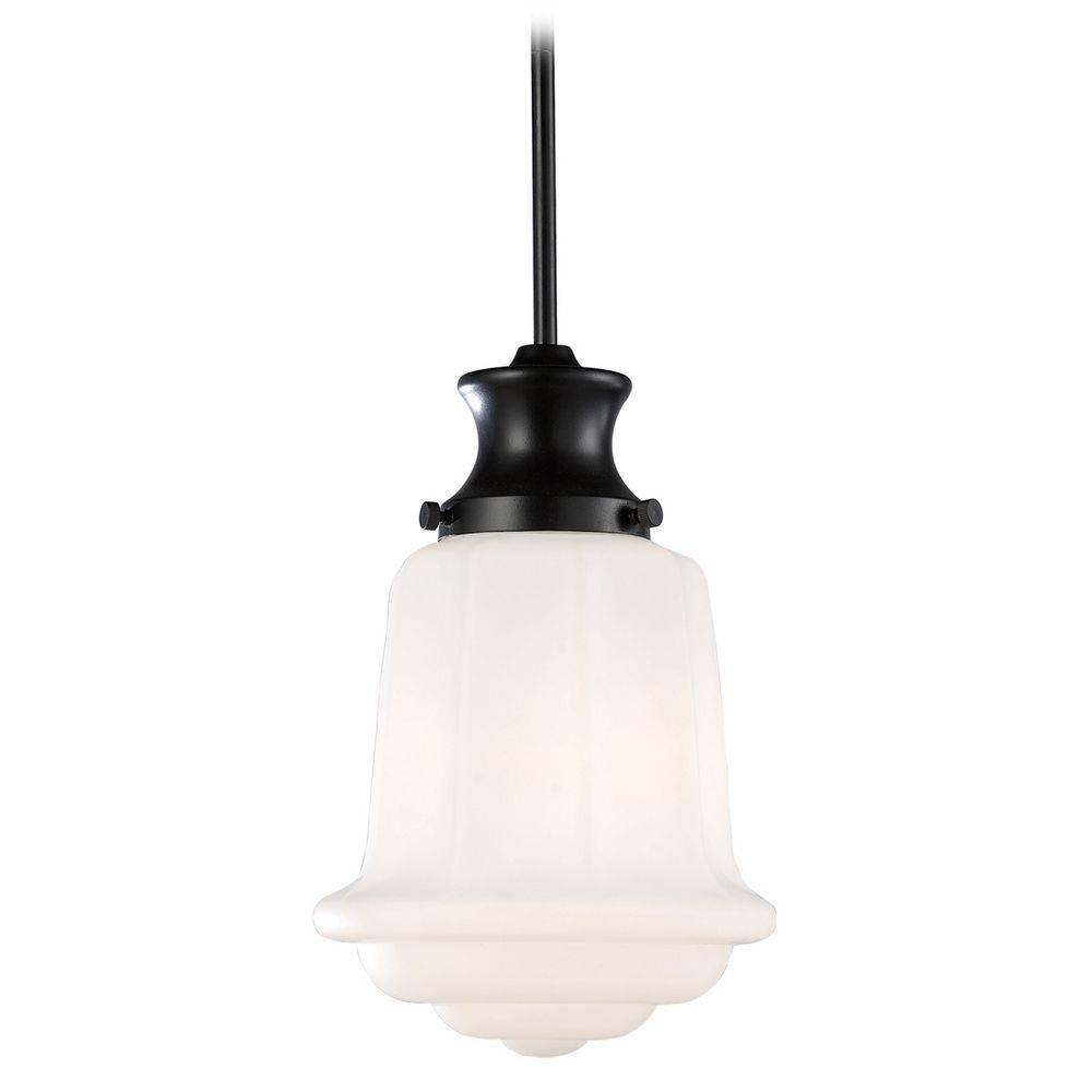 Elk Lighting Vintage Style Schoolhouse Mini-Pendant Light In with Schoolhouse Pendant Lights Fixtures (Image 3 of 15)