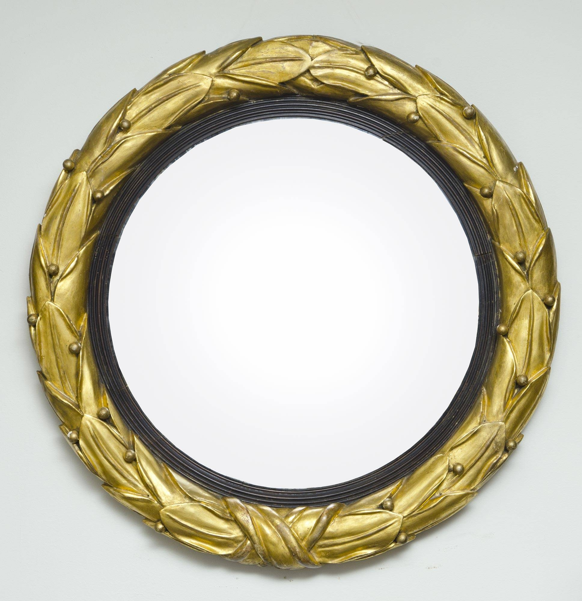 English Regency Convex Mirror | Antique Giltwood Mirror in Antique Convex Mirrors (Image 8 of 15)