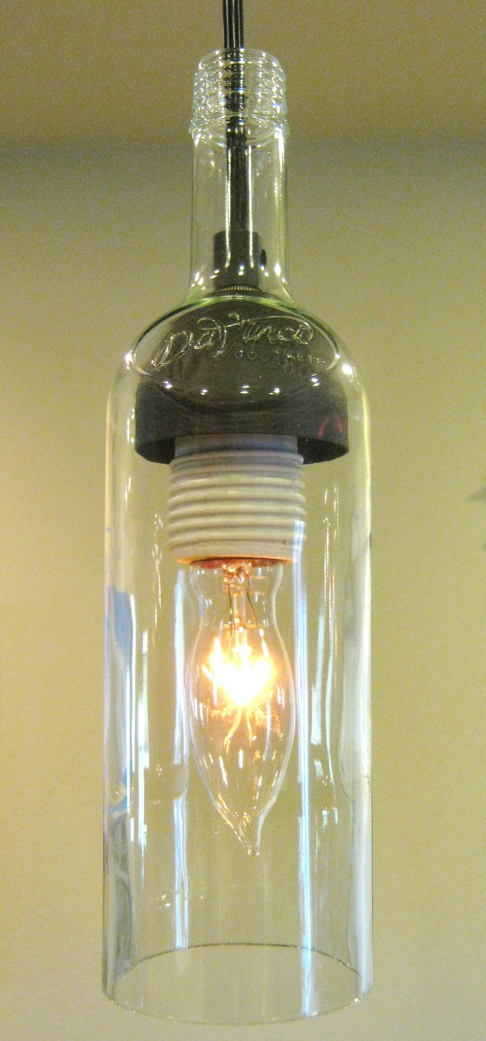Epic Wine Bottle Pendant Light 16 About Remodel Plug In Pendant Inside Bottle  Pendant Lights (