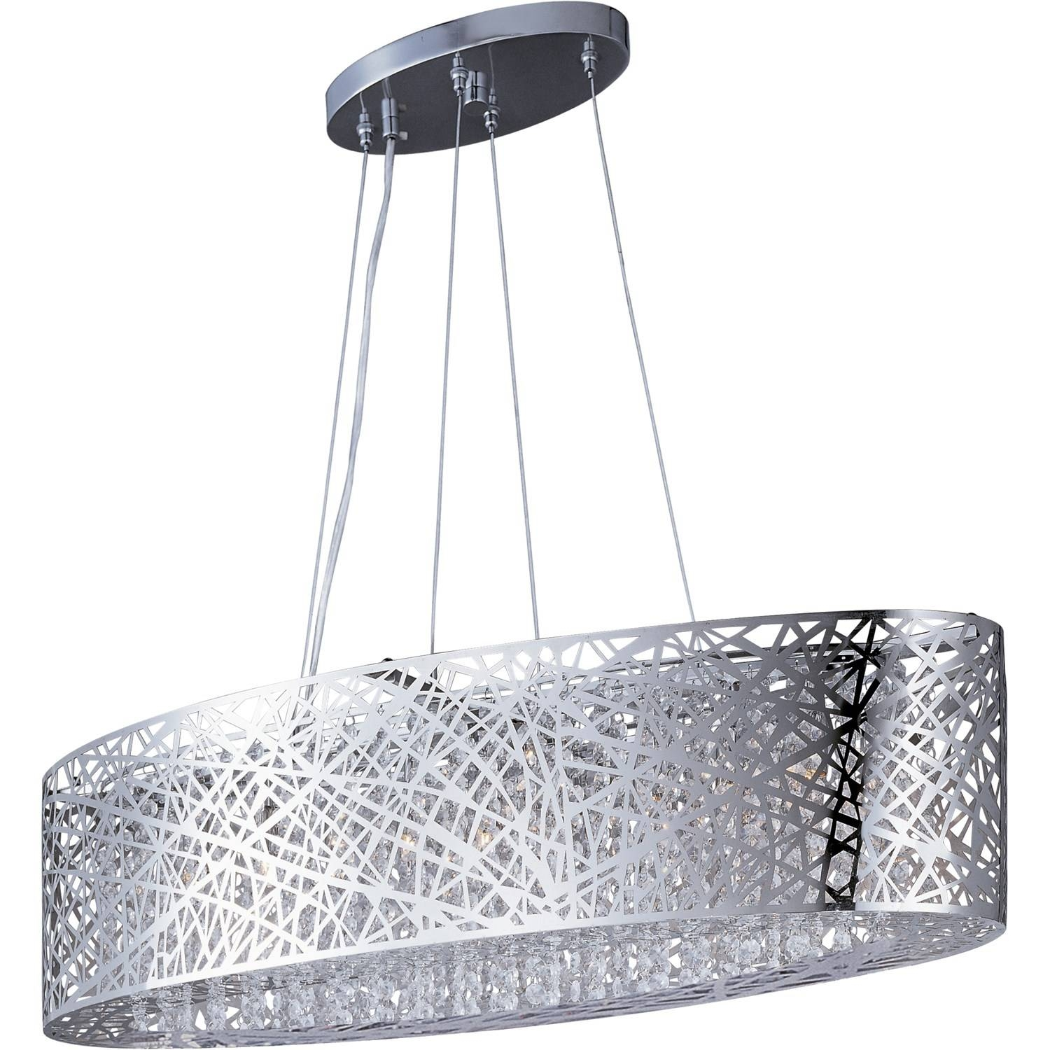 Et2 E21310-10Pc Inca 9 Light Pendant In Polished Chrome With Clear with Inca Pendant Lights (Image 5 of 15)