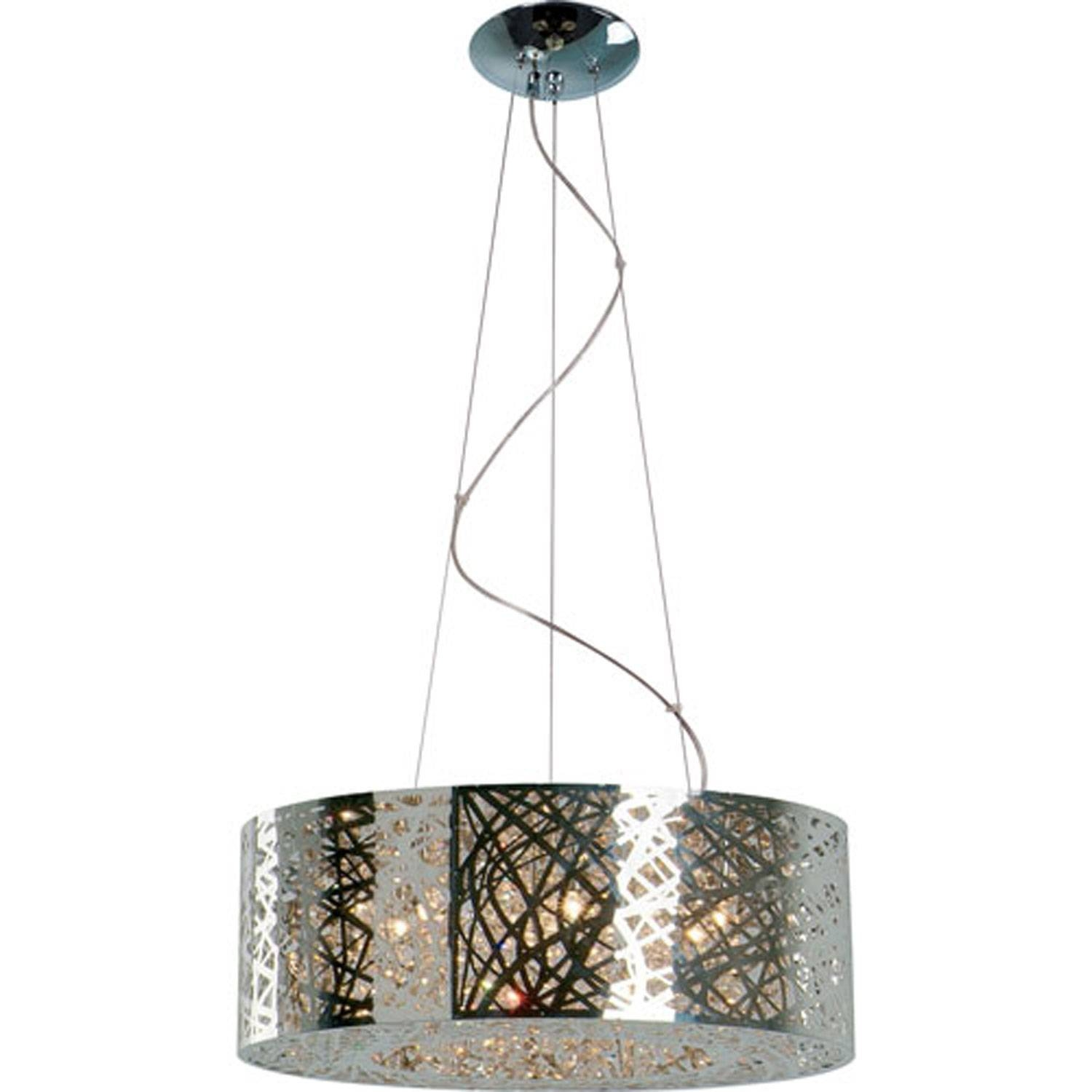Et2 Inca Polished Chrome Nine Light Pendant On Sale throughout Inca Pendant Lights (Image 8 of 15)