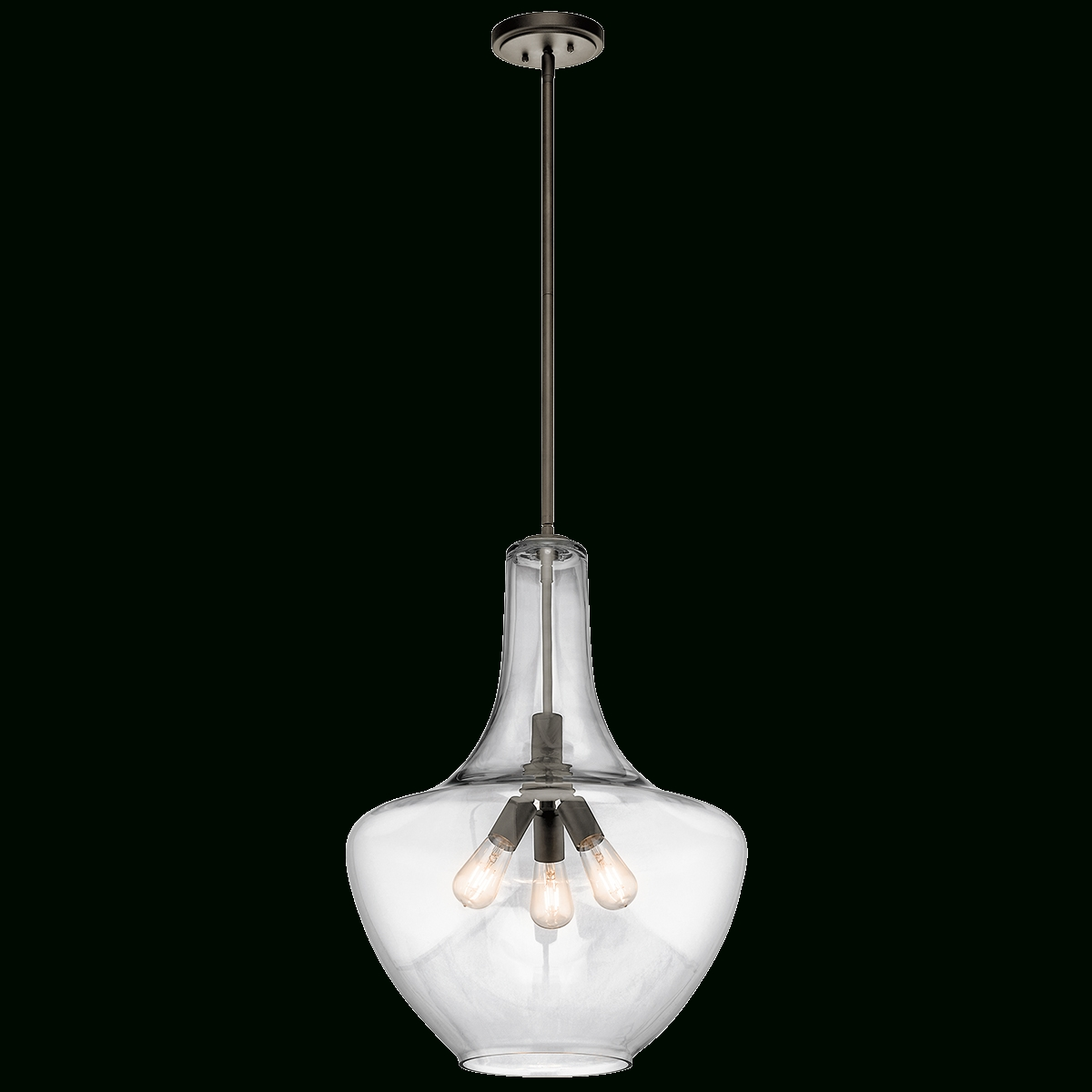 Everly 3 Light Pendant In Chrome Within Kichler Pendant Lights Fixtures (View 13 of 15)
