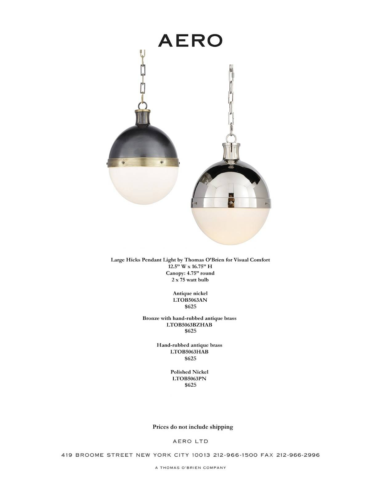 Everything Aero: May 2012 with Large Hicks Pendants (Image 4 of 15)