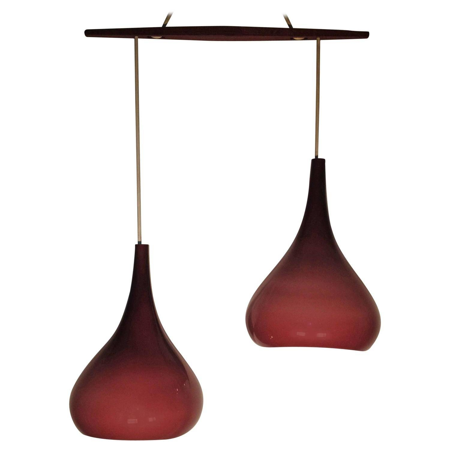 Exceptional 1960S Scandinavian Cased Glass Pendant Light Inside 1960S Pendant Lights (View 4 of 15)